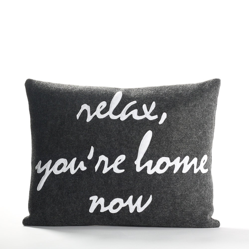 Decorative Pillow Throw Pillow Relax You re Home