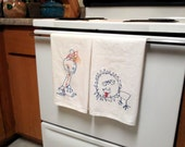 Custom Listing---- Your Child's Drawing made into embroidered tea towels.