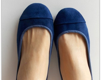 LUNAR- Ballet Flats - Suede Shoe - 42-Cobalt Blue. Available in different sizes
