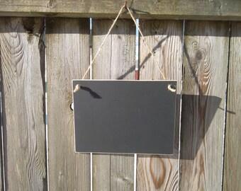 Hanging Chalkboard~ 6x8 Chalkboard~ Wooden Chalkboard~ Rustic Chalkboard~ Photo Prop~ Wedding Sign~ Kids Chalkboard ~ Small Chalkboard