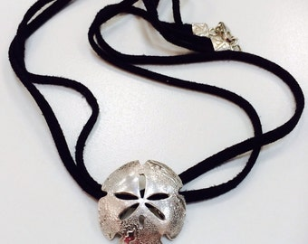 Silver Sand Dollar Necklace or Ponytail Holder