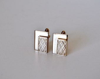 Vintage Gold Argyle Cufflinks