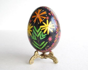best seller Pysanka, traditional folklore art,batik chicken egg shell,Ukrainian Easter egg hand painted egg with hot beeswax,field flowers