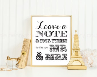 Wedding Guest Book Sign Printable PDF INSTANT DOWNLOAD