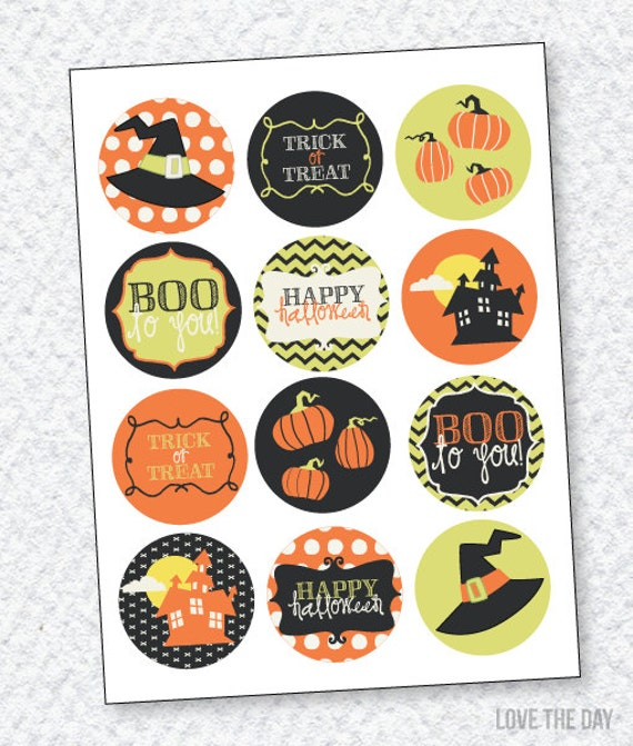 Boo To You Halloween Party PRINTABLE Cupcake Toppers by Love The Day