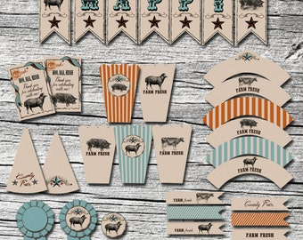 Vintage Petting Zoo Accessory Suite - Digital