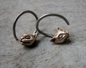 Cat hoops 14 gauged earrings