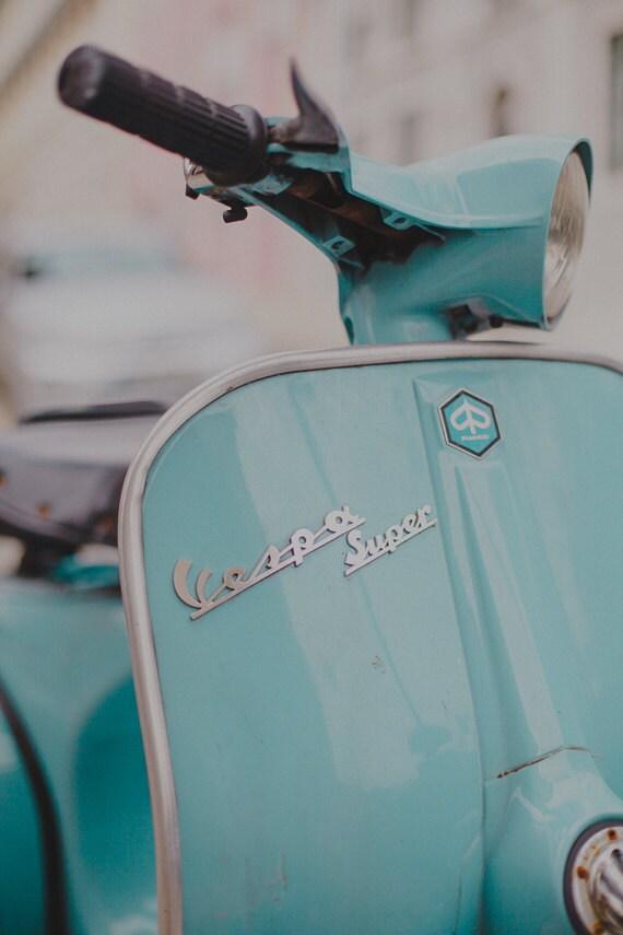 Items similar to Mint Vespa Photography, Vintage Style ...  Items similar t...