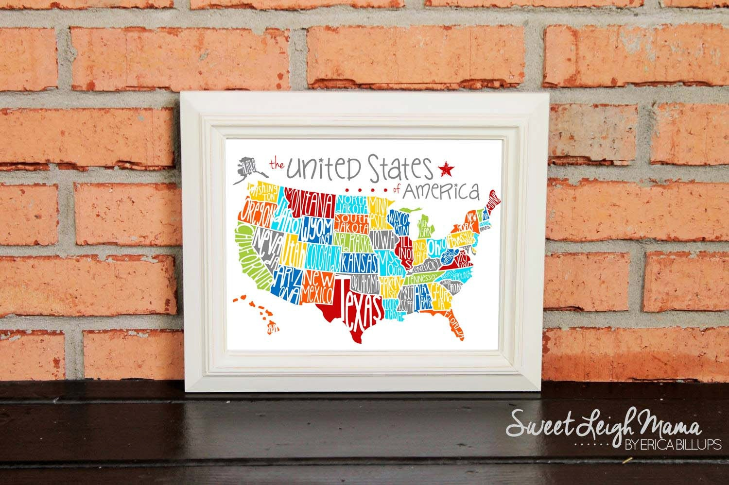 DIGITAL FILE US Map United States Of America Playroom - Us map with state names