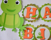 BANNER - Reptile Birthday Party Decorations, Frog, Snake Party, Iguana, Lizard