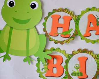 BANNER Reptile Party Decorations, Frog Birthday, Snake Party, Iguana, Lizard