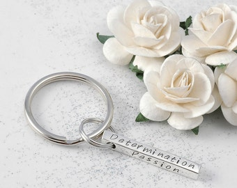 Personalized key chain 4-sided bar