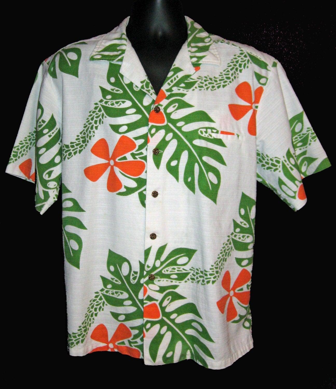 Vintage Hawaiian Shirt L Ho Aloha Hoaloha Hawaii