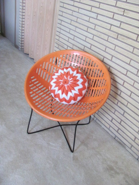 Vintage 1970 S Mod Orange Solair Shell Chair Canada Plastic Shell Chair