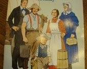 Vintage American Pioneer Family Paper Dolls Collection by Tom Tierney Pilgrims Thanksgiving Americana Made in USA 104