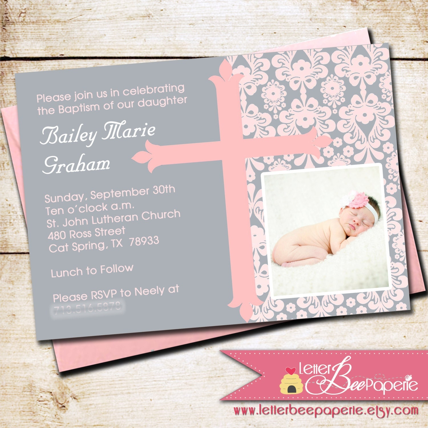 Invitations Baptism Boy with luxury invitations template