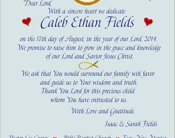 Baby Boy Dedication Gift-Linda Paige Tolis--Dedication Gift-Christian Personalized Certificate