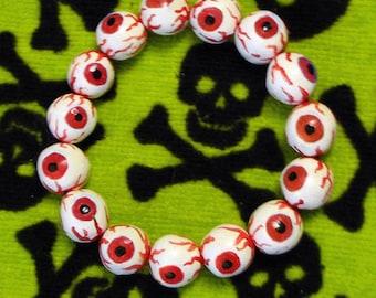 Eyeball bracelet - Red - Albino, monster, zombie, vampire