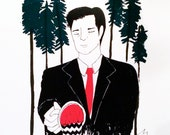 Twin Peaks - Special Agent Dale Cooper - Original Hand Pulled Screenprint