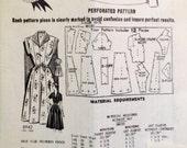 "Vintage 1950s Sew-Rite Misses' Mail Order Dress Pattern 8942 Size 14 1/2 (33"" Bust)"