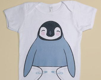 Funny Baby Clothes - Cute Baby Onesie - Funny Onsies - Penguin