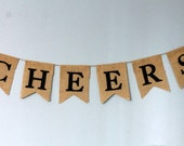 CHEERS Burlap Banner with Felt Letters