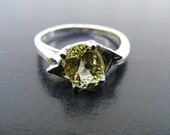 15% Off Sale.S198 Made to Order...New Sterling Silver Side Mount Ring with 2 Carat Natural Lemon Topaz Gemstone