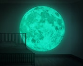 NEW XXL Moonlight night-light wall-sticker, Clair De Lune (the new world's largest glow-in-the-dark moon wall sticker-180cm/71inch)