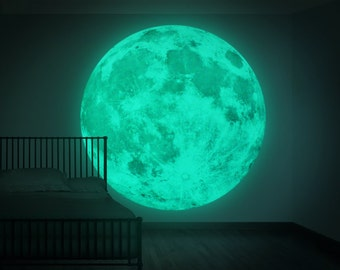NEW XXL Moonlight night-light wall-sticker, Clair De Lune (the new world's largest glow-in-the-dark moon wall sticker-180cm/71inch)