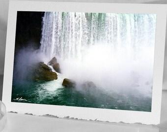 Niagara Falls up-close Photo Greeting CARD Waterfalls Blank Notecards Wedding Anniversary husband wife men also as Samsung Galaxy case gift
