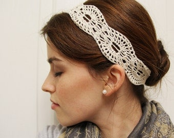 Crochet Pattern - Lace Headband - Instant Download
