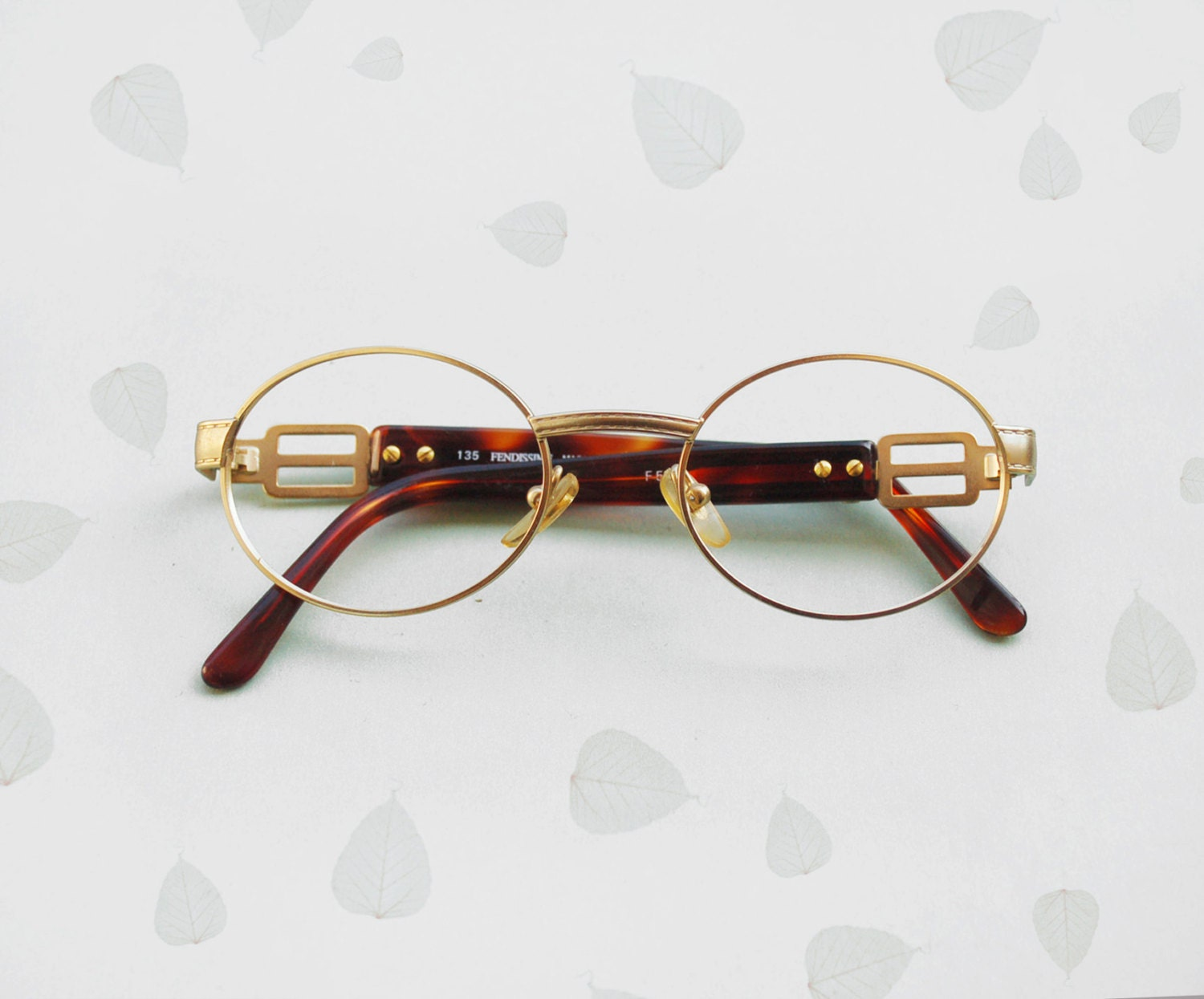 Gold Frame Vintage Glasses : FENDI Fendissime Frames eyeglasses / Vintage 90s gold filled