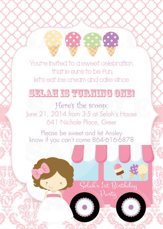 Invitation Card For First Birthday Party for best invitation example