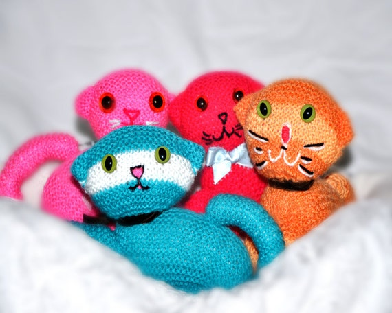 Knitting Pattern for a Cat Kitten Soft Toy by CatherinesCornerShop