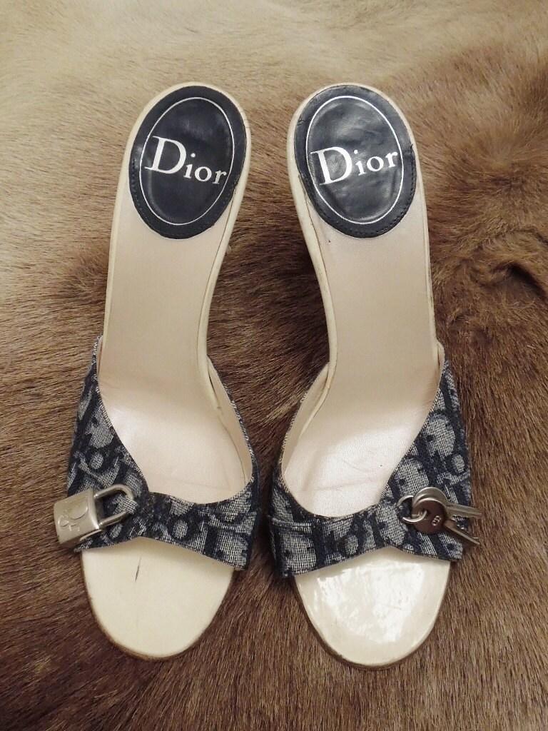 Kitten Heel Mule Slippers
