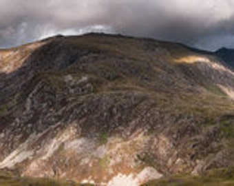 Mount Snowdon and Glyder Fawr, Wales. Welsh Mountains Landscape Panorama Photography