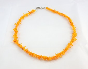 Yellow Coral Necklace - Christmas gift idea for her, women - Ready to ship