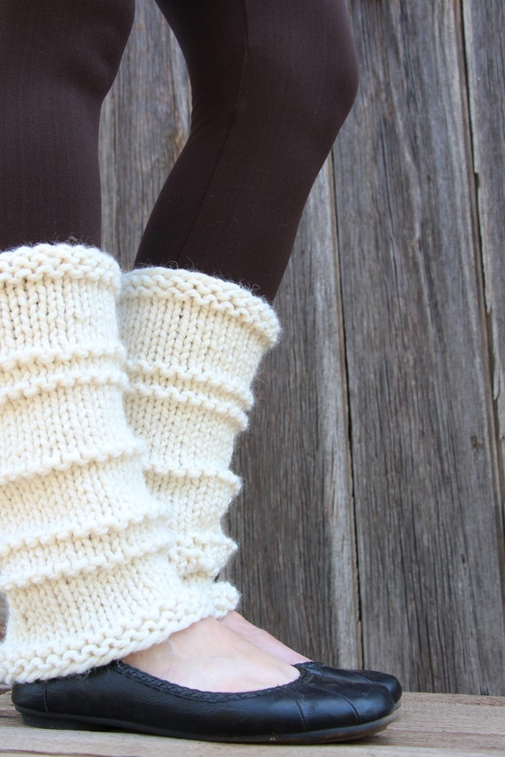 Knitting Pattern For Ladies Leg Warmers : WHOLEHEARTED - Womens Leg Warmer Knitting Pattern - a set of INSTRUCTION...