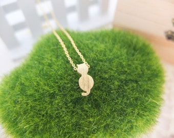 Cat Necklace Gold necklace Gold Charm necklace Animal necklace Dainty necklace Gift Christmas Gift mom Birthday Gift best friend Birthday