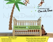 Monkey Wall Stickers, Jungle Decals, Monkey Decals, Monkey Vine Decal (Monkey Palm Only)  VPTO