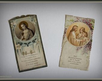 Set of 2 vintage 20's holy communion cards.