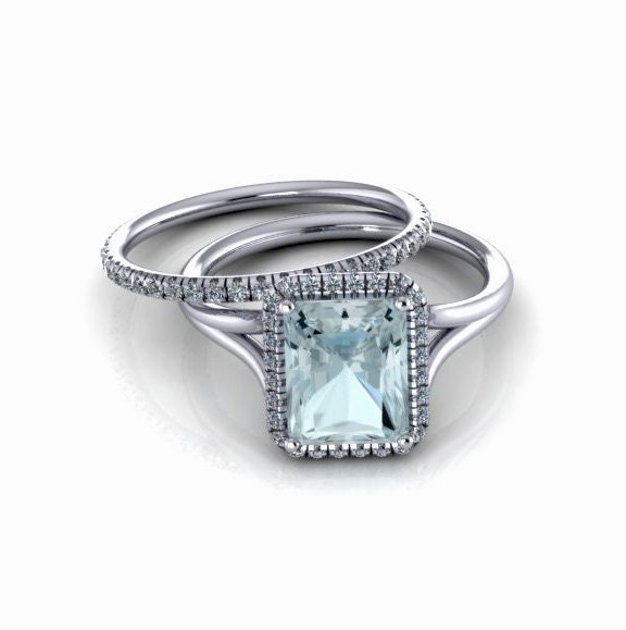 aquamarine engagement ring diamond engagement ring emerald cut. Black Bedroom Furniture Sets. Home Design Ideas