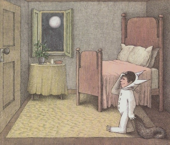where the wild things are wall art maurice sendak max more faux phases