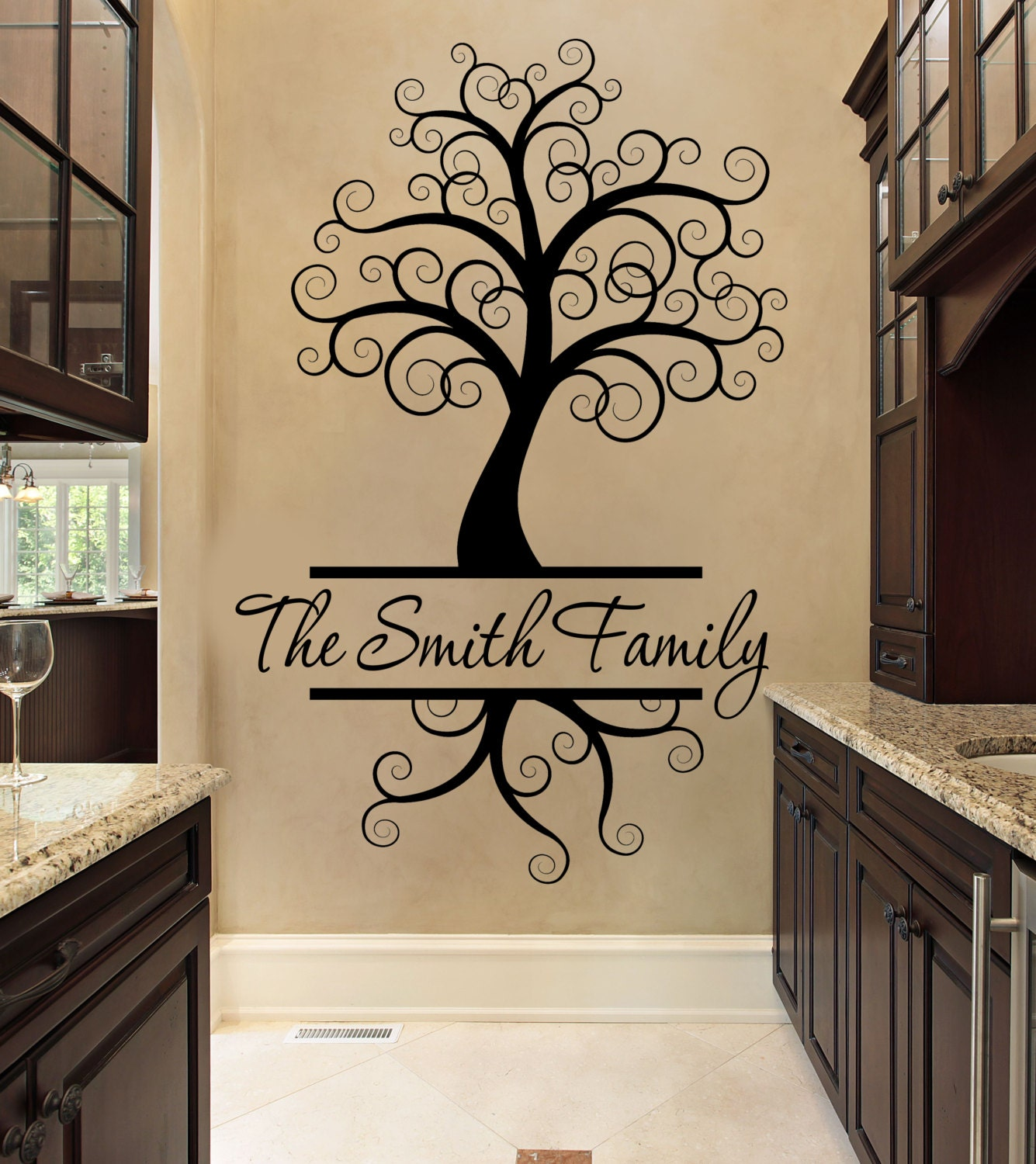 Custom Wall Decal Tree Wall Decal Black Wall Decal
