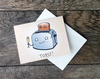 Give a Toast Greeting Card