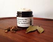 Organic Cedarwood Bay Zinc Cream Deodorant/ 100% Natural/ Really does work