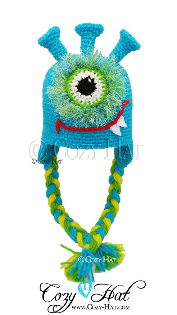 What Izzy Monster Hat MADE to ORDER Hand Made Crochet Hat / Toy Sold Separately