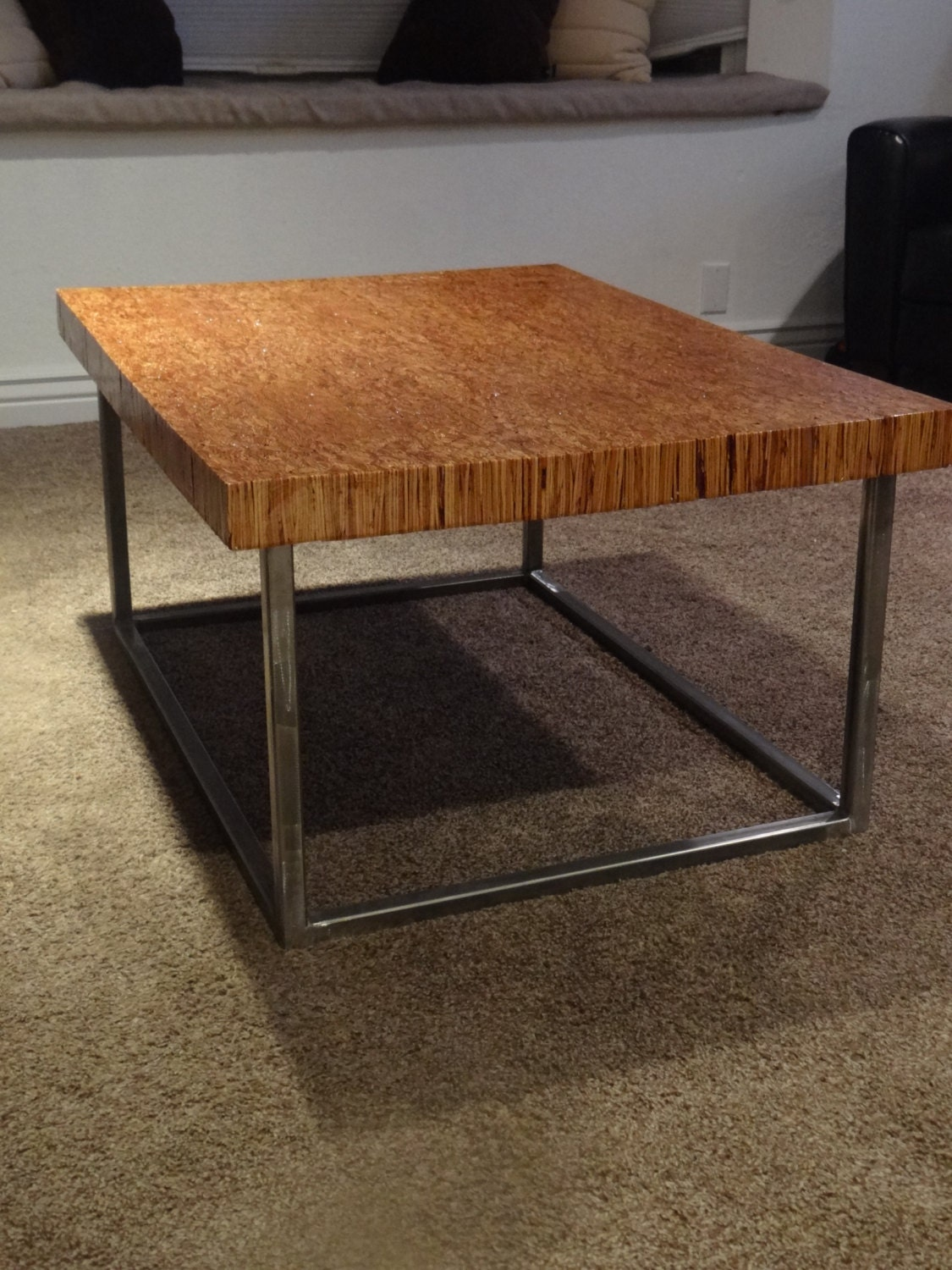 Reclaimed Wood With Steel Frame Coffee Table By Timbercyclellc