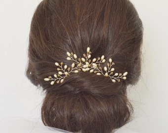 Wedding Hair Accessories, Bridal Hair Pins, Cream Freshwater Pearl Crystal Hair Pins,Bridal Hair Accessory, Customised Crystal Hair Pins