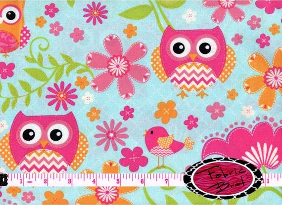Owl fabric - deals on 1001 Blocks